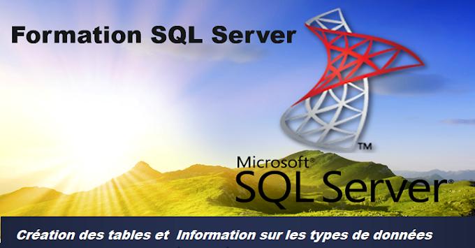 سلسلة دروس SQL :  إنشاء جداول ومعلومات عن أنواع البيانات Sql Server