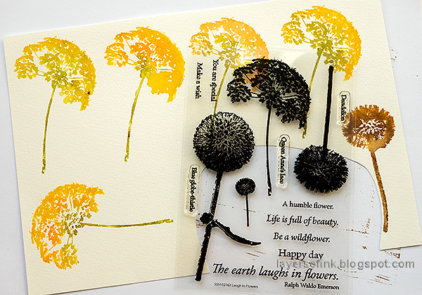 Layers of ink - Autumn Blooms Card Tutorial by Anna-Karin Evaldsson. Stamp flowers from Simon Says Stamp Laugh In Flowers stamp set.