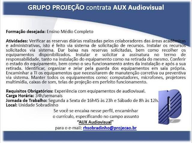 Emprego para Auxiliar Audiovisual
