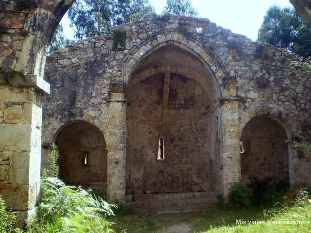 Ruinas del Monasterio de Santa María de Tina, ruta del románico, Asturias