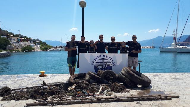 Εθελοντές δύτες ανέσυραν 200 κιλά απορρίμματα από το βυθό στο Λιμάνι της Επιδαύρου
