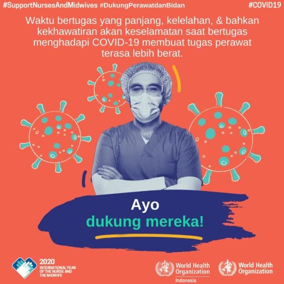 Poster Perawat Melawan Coronavirus