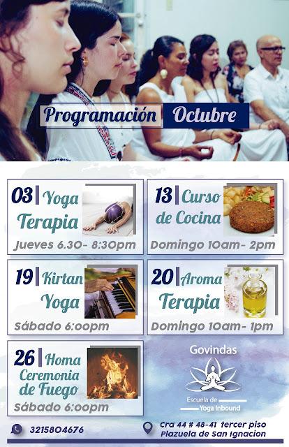 En octubre traemos tus actividades favoritas para que no te pierdas lo mejor de nuestra programación!