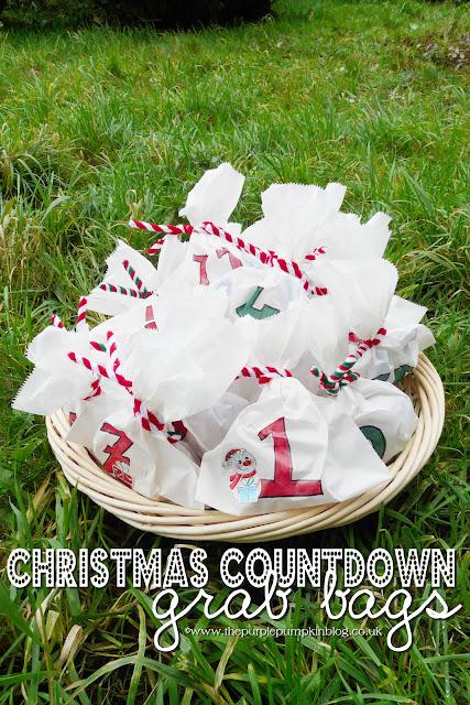 Christmas Countdown Grab Bags | The Purple Pumpkin Blog