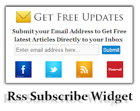Add a beautiful RSS subscribe widget with social buttons to your blogger blog
