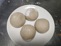 Round shaped dough balls for aloo paratha recipe