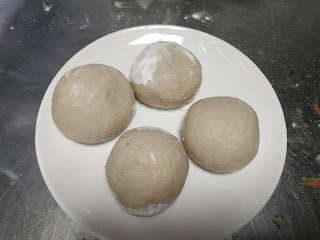 Round shaped dough balls for aloo paratha recipe