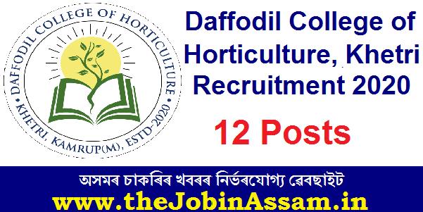 Daffodil College of Horticulture, Khetri Recruitment 2020