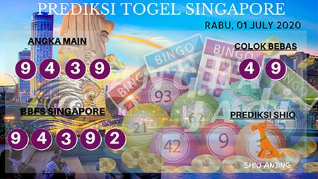 Prediksi Togel Angka Jadi Singapura SGP Rabu 01 Juli 2020