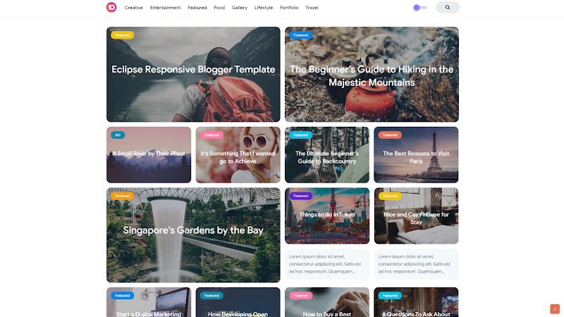 Eclipse Responsive Blogger Template - Responsive Blogger Template