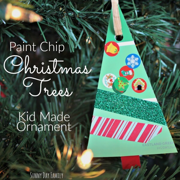 Paint Chip Christmas Trees Christmas Ornament Craft For