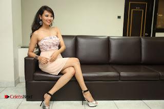 Actress Sagarika Pictures in Short Dress at Friend Request Press Meet  0395