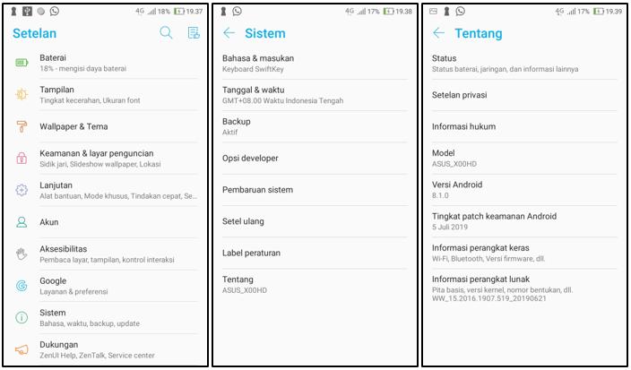 Cara Mengaktifkan Debugging USB Di HP Asus Zenfone 4 Max