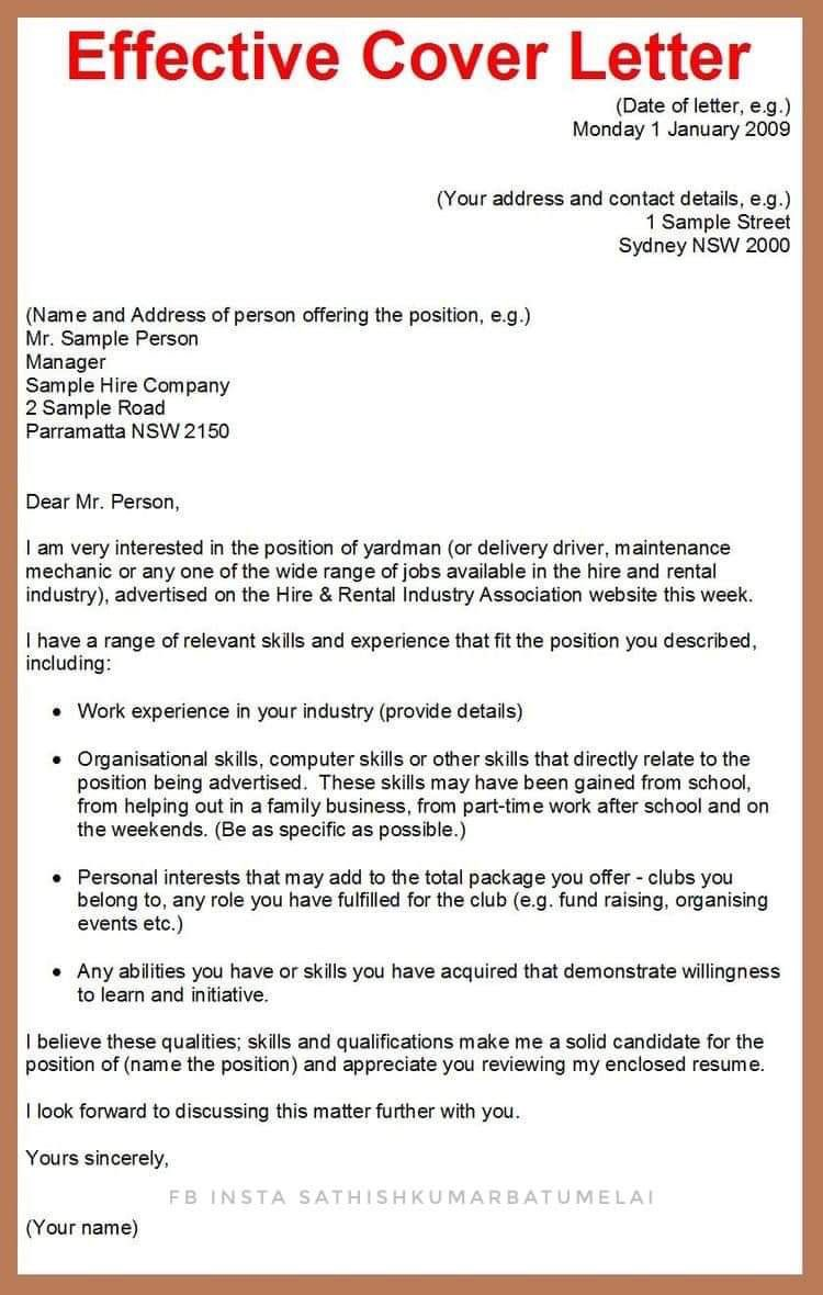 contoh cover letter template cv