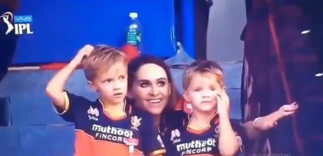 IPL 2021- एबी डी विलियर्स के चौके छक्के देख पत्नी ने स्टैंड से दिया फ्लाइंग किस, देखने लायक था एबीडी का रिप्लाई