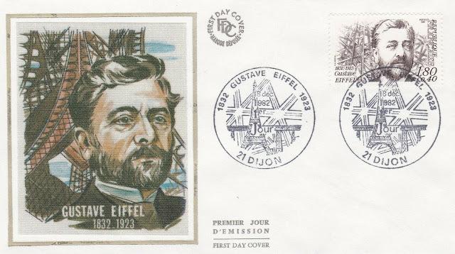 France 1982 FDC Gustave Eiffel