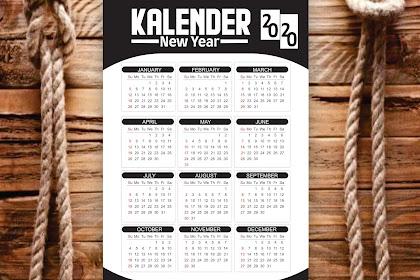 Kalender Tahun Baru Tahun 2020 - New Years