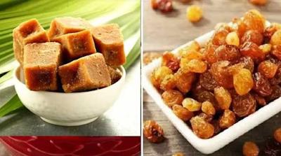 Jaggery and Raisins