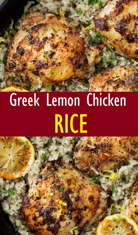 Greek Lemon Chicken and Rice