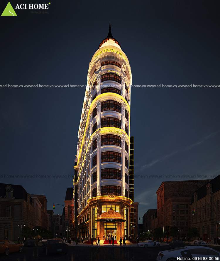 Kiến trúc khách sạn và trung tâm thương mại Pháp tốt nhất.