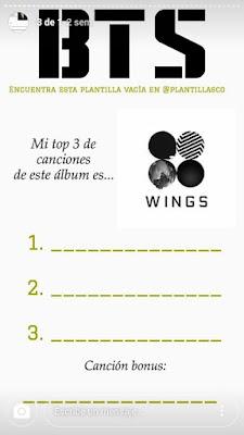Tag de canciones de BTS