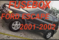 letak box sekring  FORD escape 2001-2002