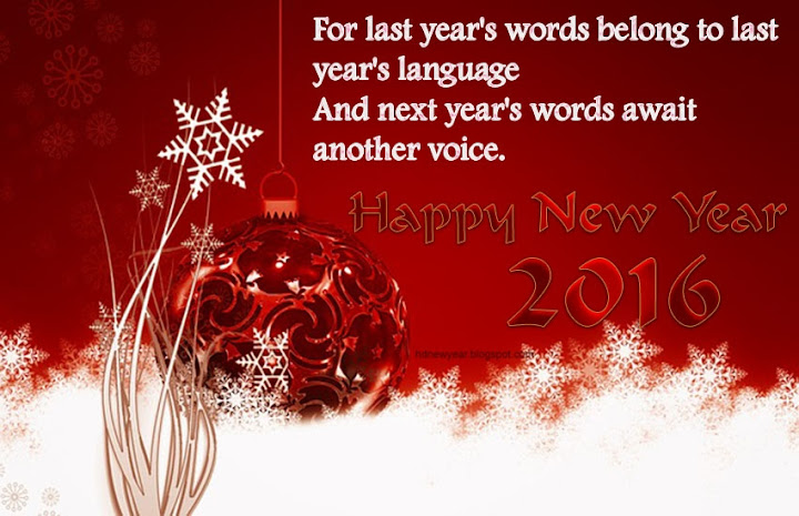 Most Beautiful New Year Wishes Quotes 2016 eCard