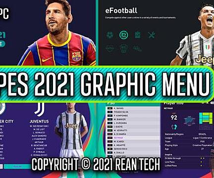 PES 2020 RT Graphic Menu PES 2021