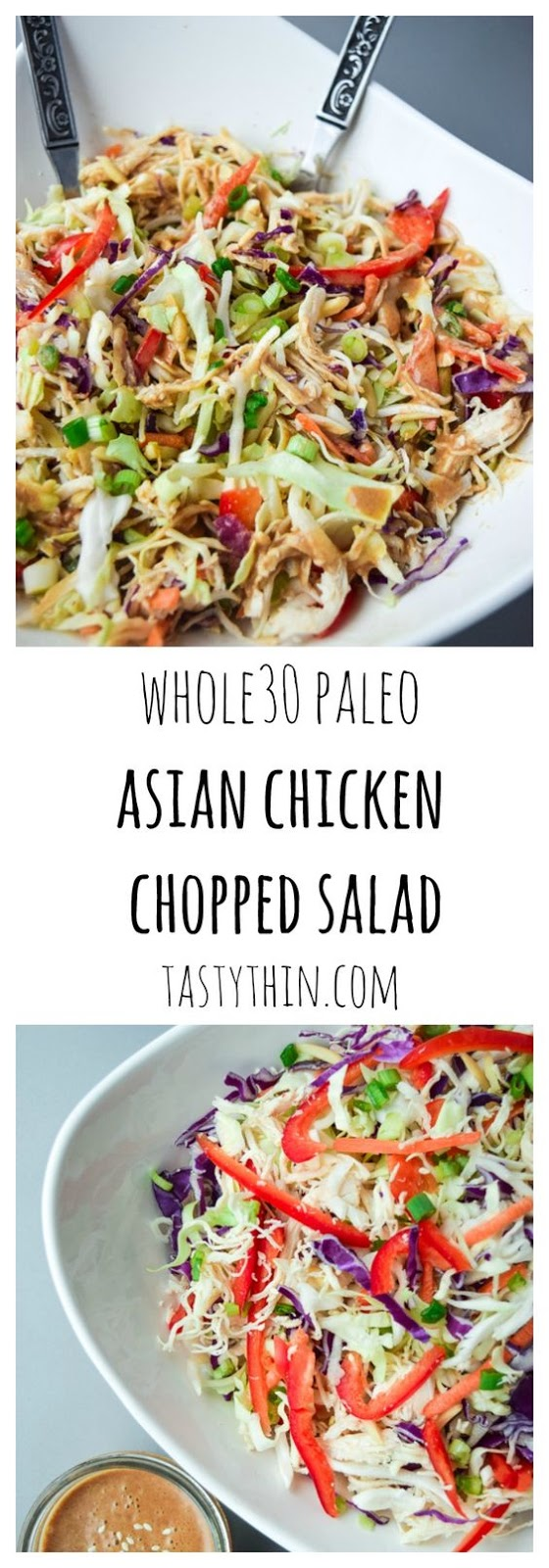 Asian Chicken Chopped Salad (Whole30 Paleo)