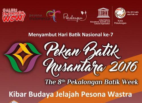 Tinuku 8th Pekalongan Batik Week 2016, 4 to October 9