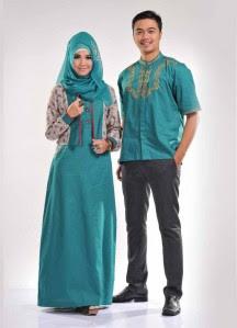 Model Baju Muslim Pesta Seragam Keluarga Terbaru