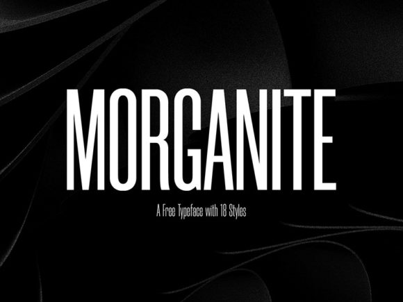 Morganite 18 Styles TypeFace Fonts