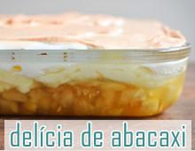 receita sobremesa de abacaxi