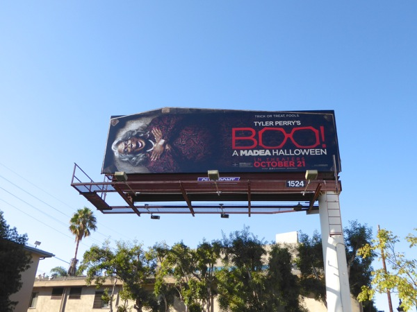 Boo A Madea Halloween billboard