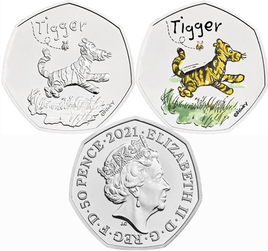 United Kingdom 50 pence 2021 - Tigger