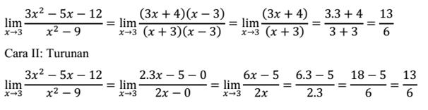 Contoh soal fungsi limit dan pembahasannya