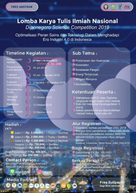 Lomba Karya Tulis Ilmiah Nasional 2019 di Universitas Diponegoro