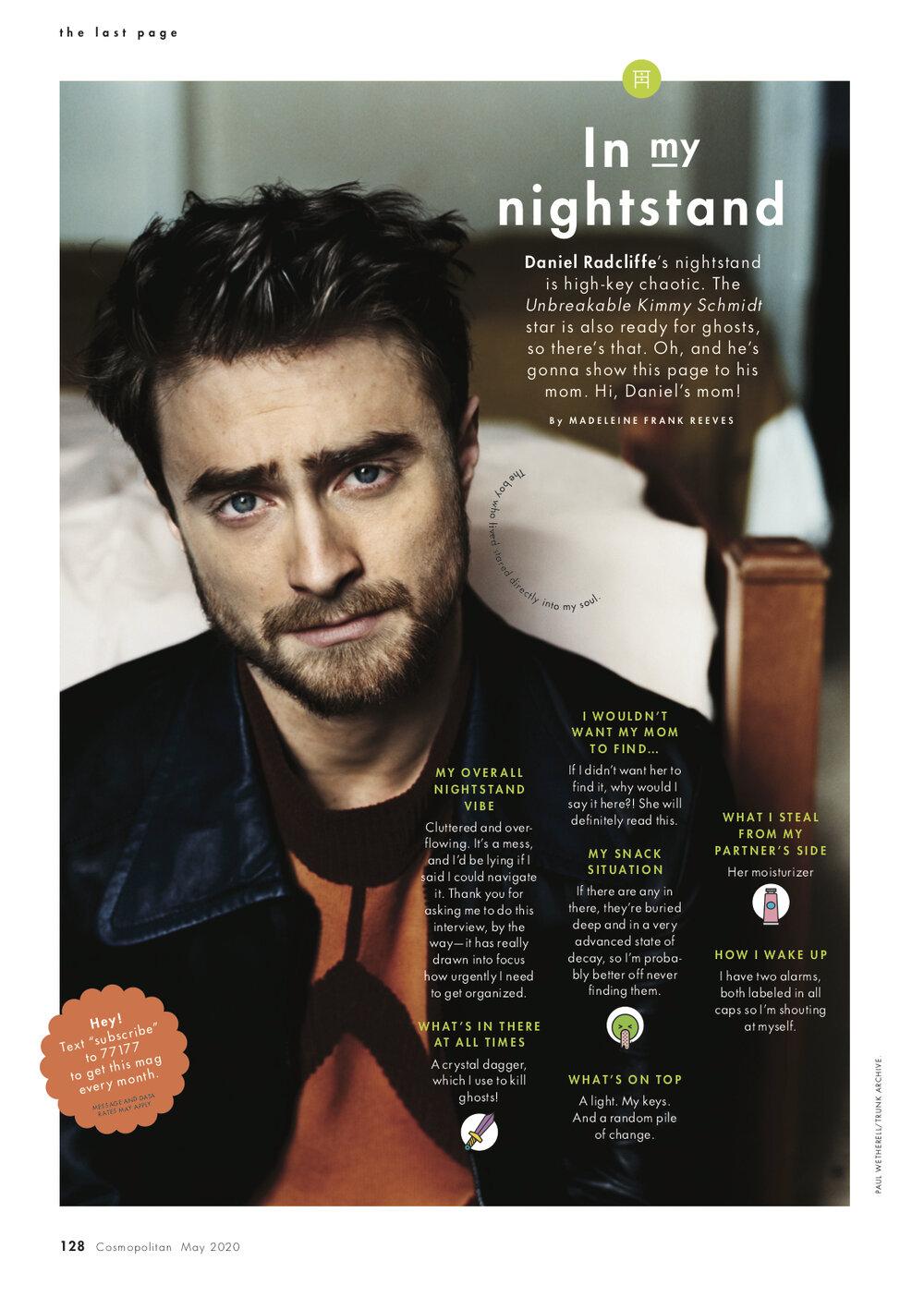 Cosmopolitan magazine interview (US)