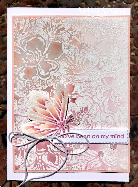 A card showcasing Petal Pink and using water-colouring featuring Stampin' Up!s Wild Roses and A Touch of Ink stamps