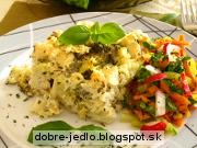 Zapekaná brokolica s karfiolom v syrovej omáčke - recept