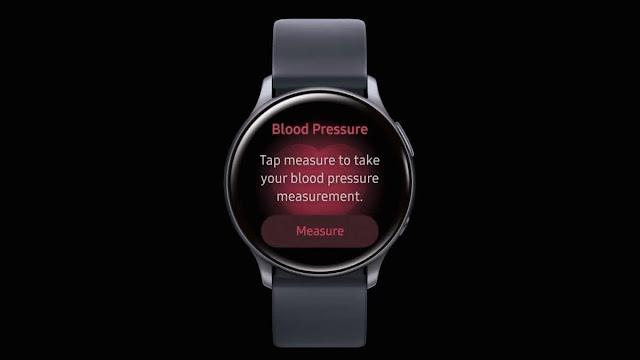 jam pintar dengan aplikasi tekanan darah samsung