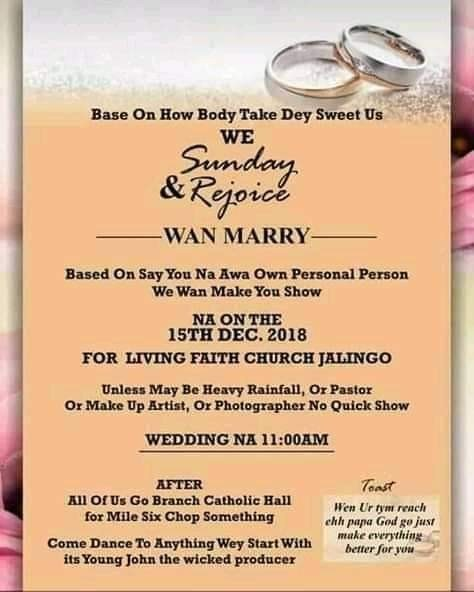 Igbo Traditional Wedding Invitation Cards: A Nigerian Couple, Sunday And Rejoice Took Creativity To A