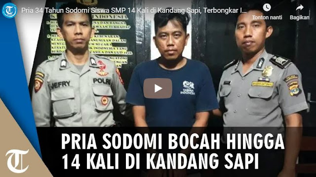 Pria Di Lampung Ditangkap Setelah Terbukti 14 Kali Sodomi Anak SMP Dikandang Sapi