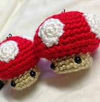http://www.ravelry.com/patterns/library/crochet-mini-mushroom-doll-toy