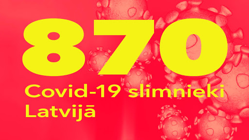 Koronavīrusa saslimušo skaits Latvijā 1.05.2020.