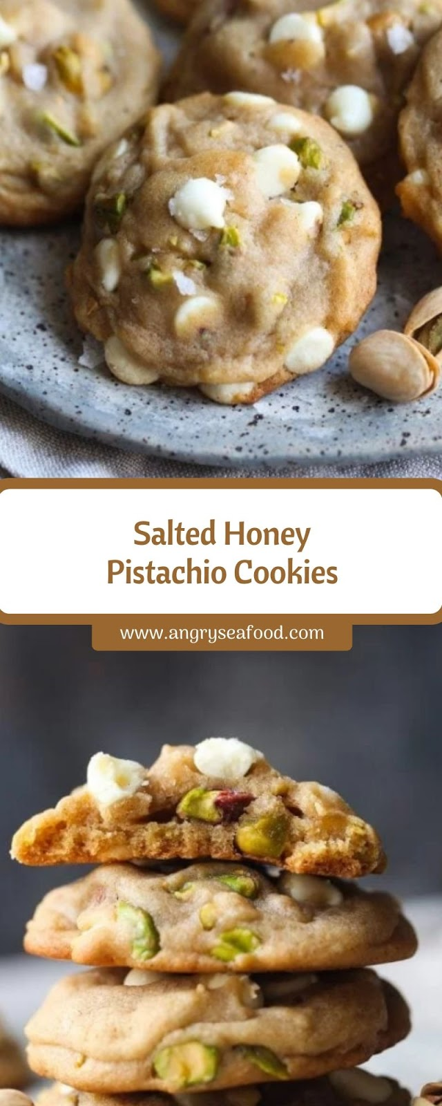 Salted Honey Pistachio Cookies