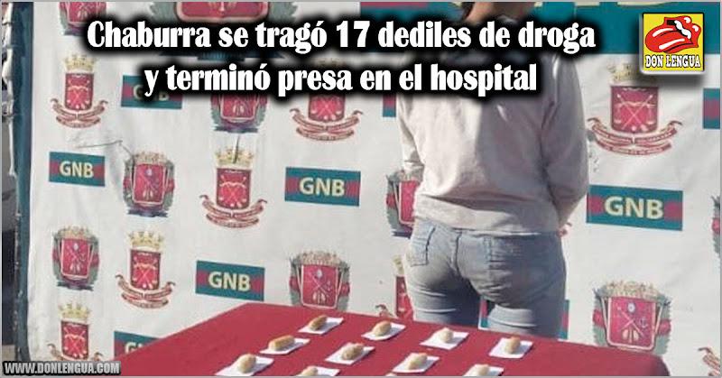 Chaburra se tragó 17 dediles de droga y terminó presa en el hospital