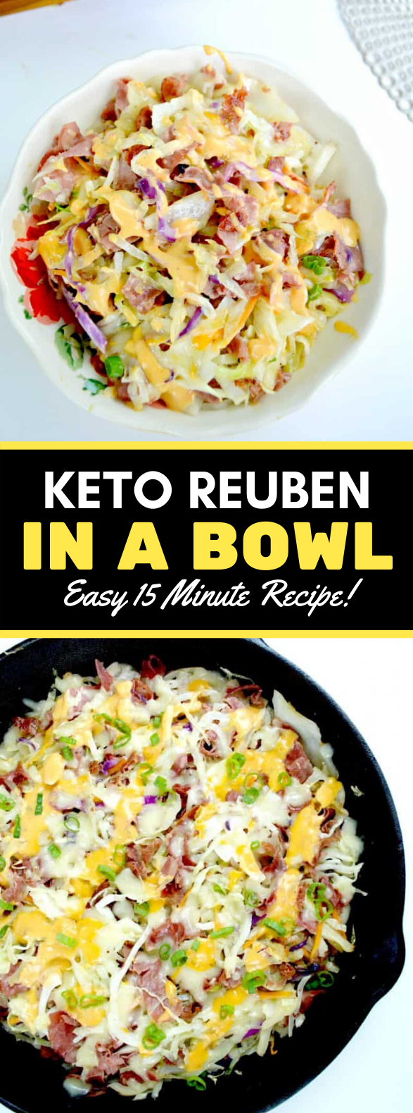 KETO REUBEN IN A BOWL #healthy #nocarb