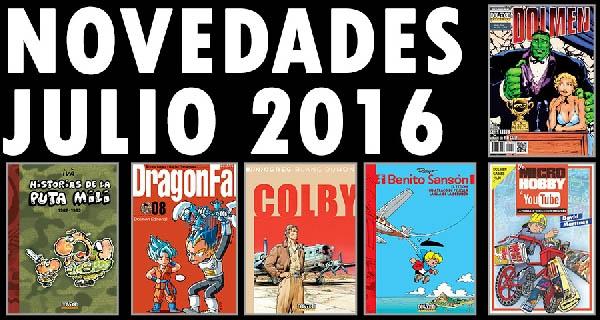 Dolmen Editorial: Novedades para el mes de julio de 2016