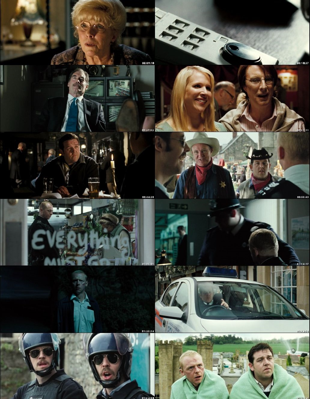 Screen Shot Of Hot Fuzz 2007 300MB Full Movie Hindi Dubbed Free Download 480P BRRip Small Size PC Movie